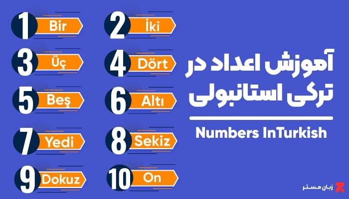اعداد در ترکی استانبولی