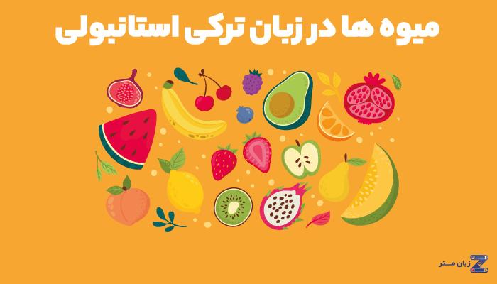 میوه ها در زبان ترکی استانبولی
