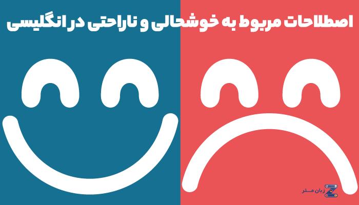 اصطلاحات مربوط به خوشحالی و ناراحتی در زبان انگلیسی